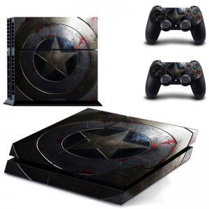 Captain America ps4 sticker