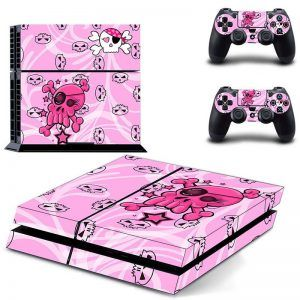 Skulls Pink ps4 sticker