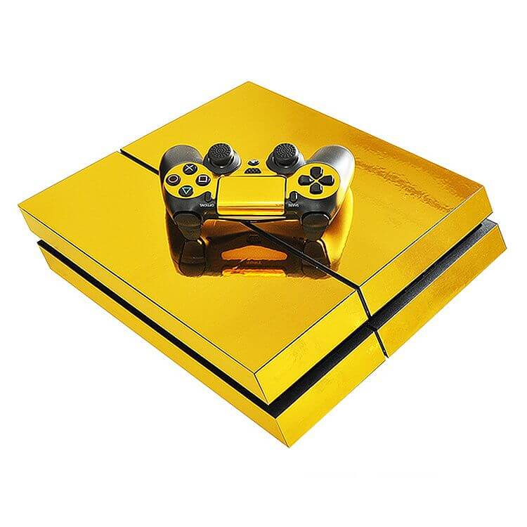 gold ps4 sticker