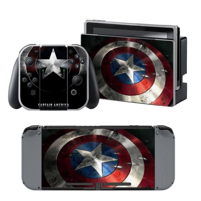 Captain America Nintendo Switch Skin