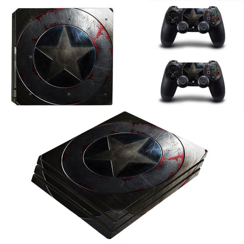 Captain America PS4 Pro sticker