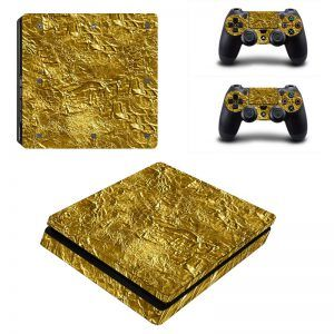 Gold Bar PS4 Slim sticker
