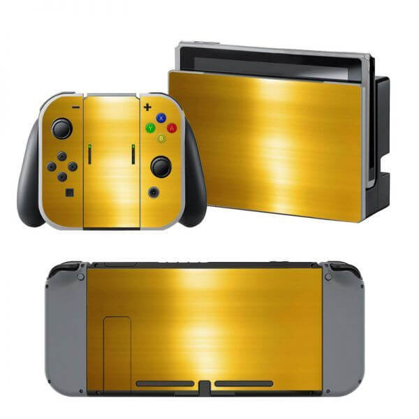 Gold Nintendo Switch Skin