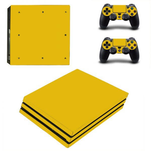 Gold PS4 Pro sticker