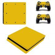 Gold PS4 Slim sticker