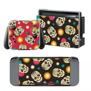 Happy Skulls Nintendo Switch Skin