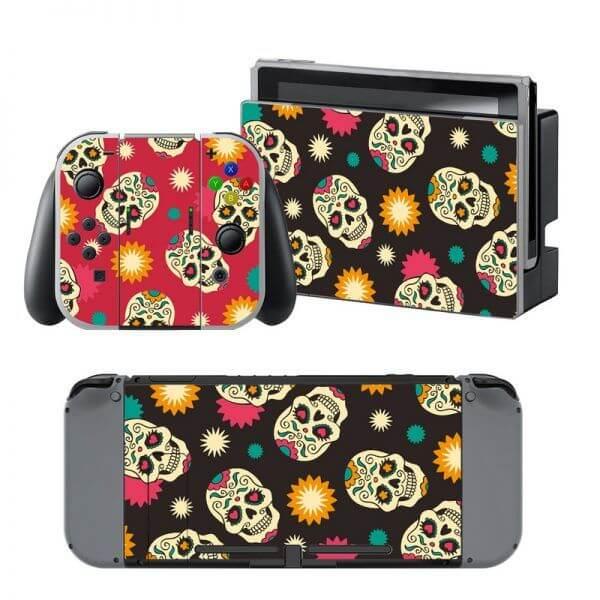 Happy Skulls Nintendo Switch Skin