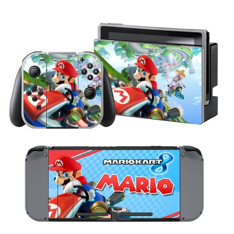 mario kart 8 nintendo switch skin customize your console. Black Bedroom Furniture Sets. Home Design Ideas
