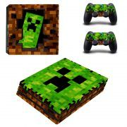 Minecraft PS4 Pro sticker