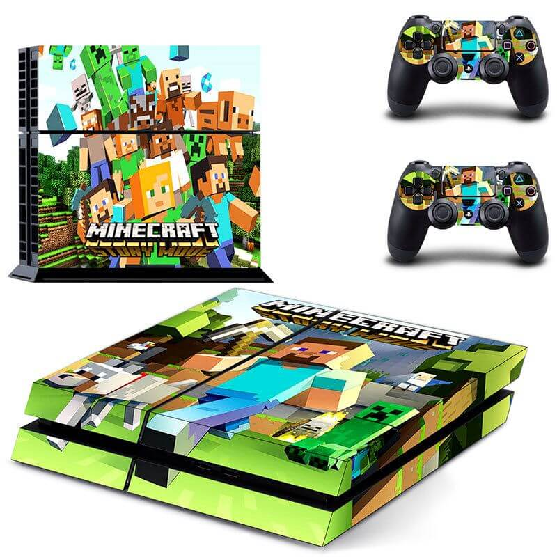 Minecraft PS4 Sticker