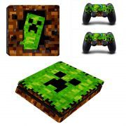 Minecraft V2 ps4 slim sticker