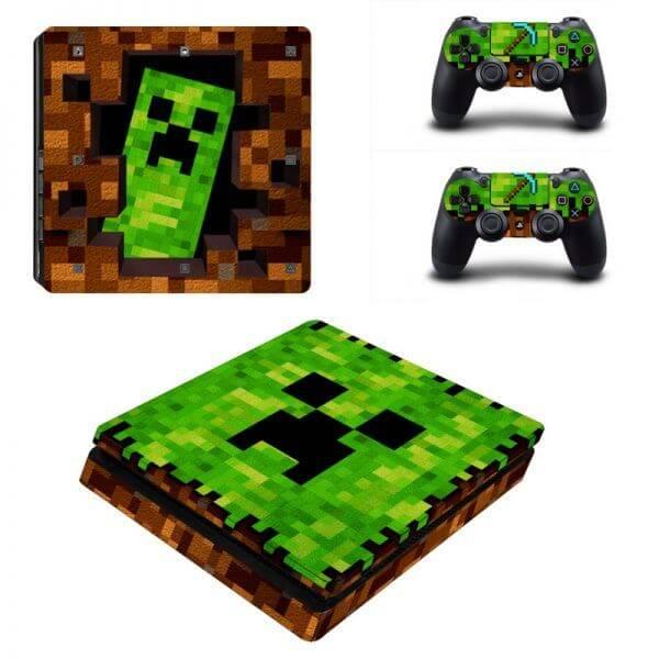 Minecraft V2 ps4 slim sticker
