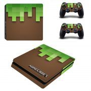 Minecraft ps4 slim sticker