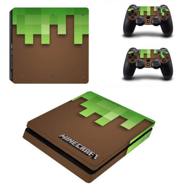Minecraft ps4 slim sticker