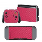 Pink Carbon Nintendo Switch Skin