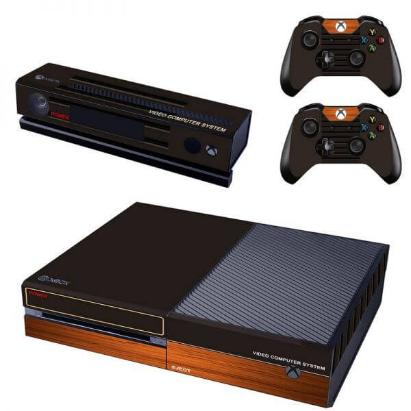 Retro Wood Black Xbox ONE Sticker