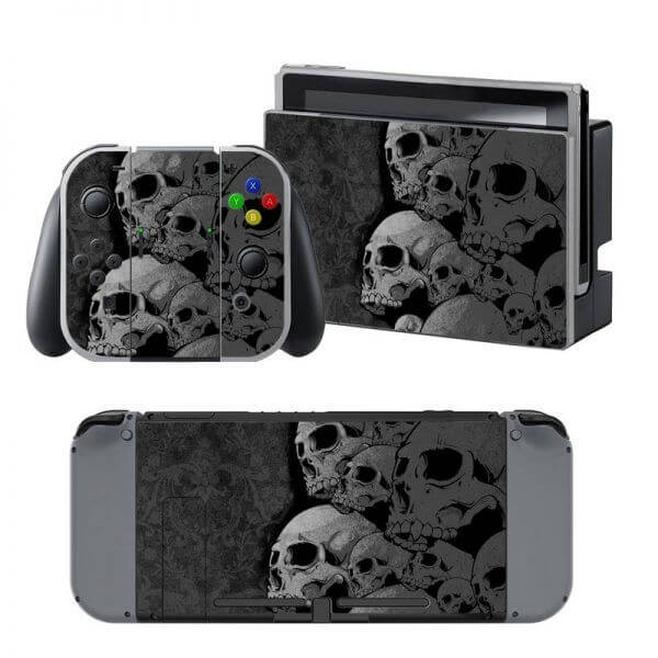 Skulls black Nintendo Switch Skin