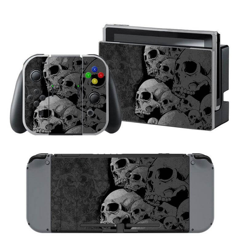 Skulls black Nintendo Switch Skin