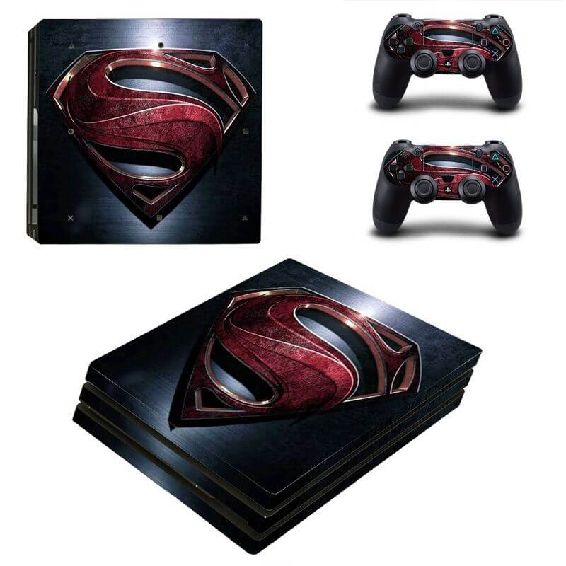 Superman PS4 Pro sticker