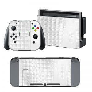 White Carbon Nintendo Switch Skin