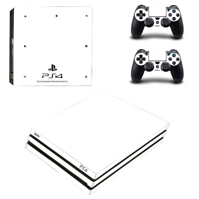 White PS4 Pro sticker