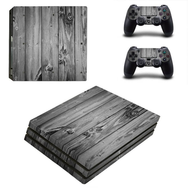 Wood PS4 Pro sticker