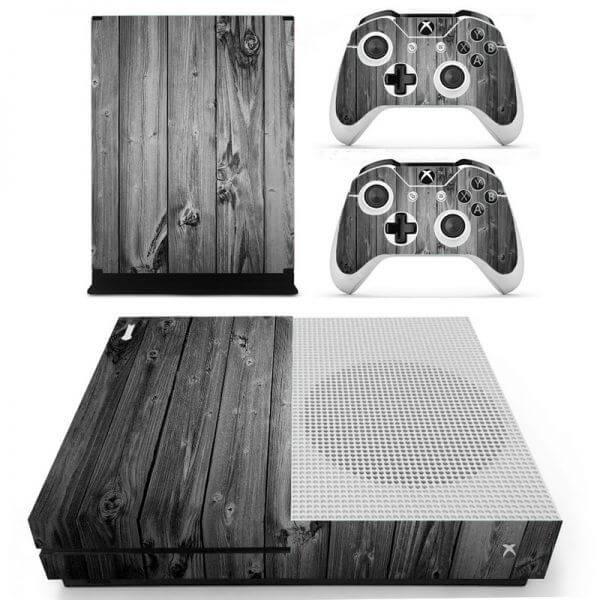 Wood Xbox ONE S sticker