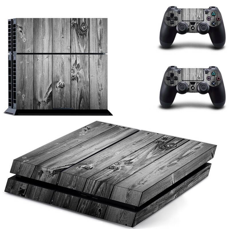 Wood ps4 sticker