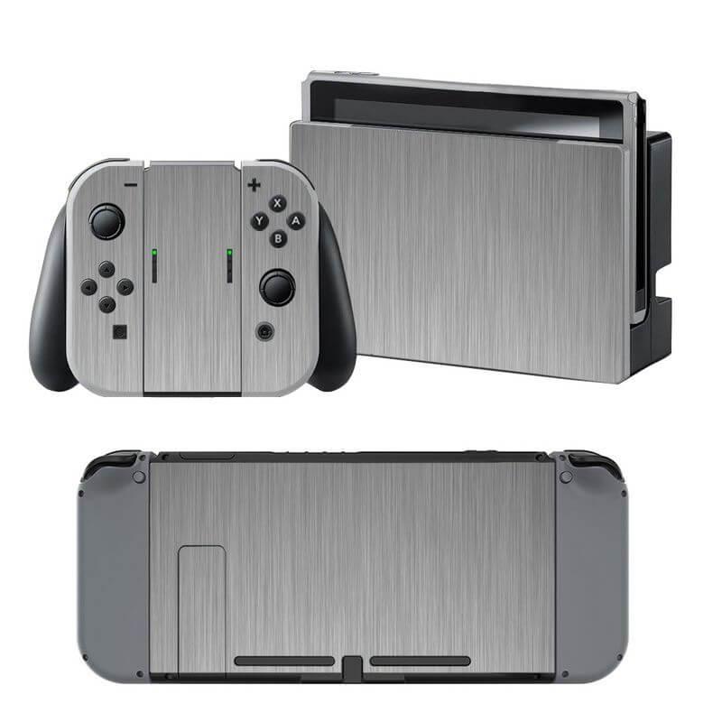 Zilver Grijs Nintendo Switch Skin