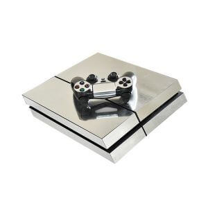 silver PS4 sticker
