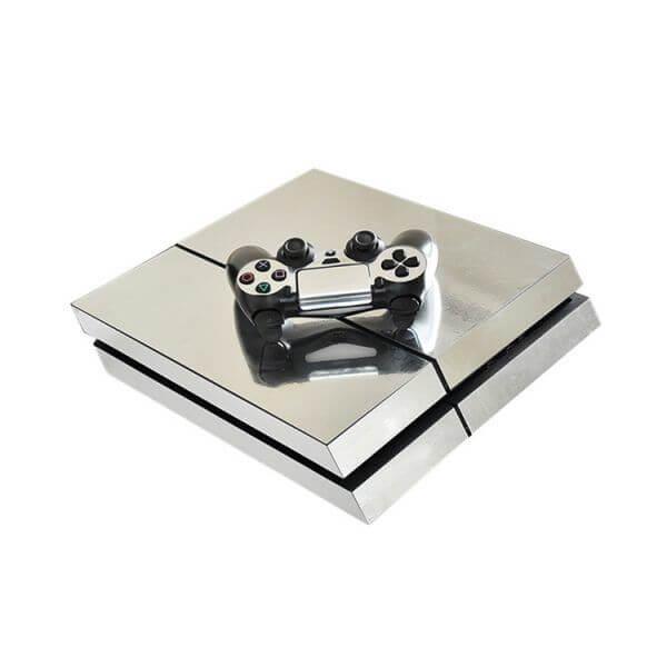 silver PS4 sticker