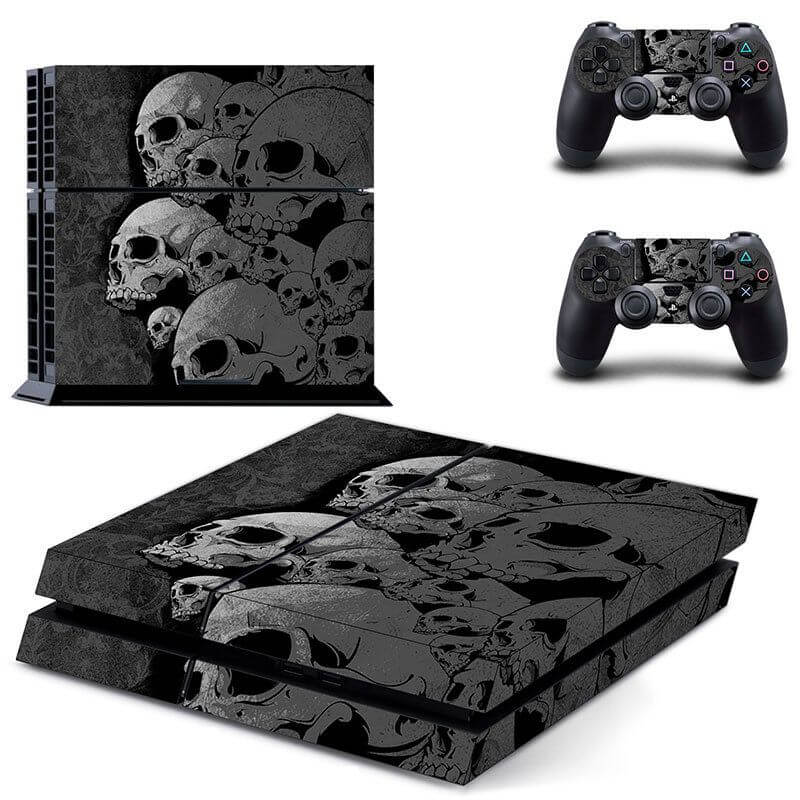 skulls black ps4 sticker