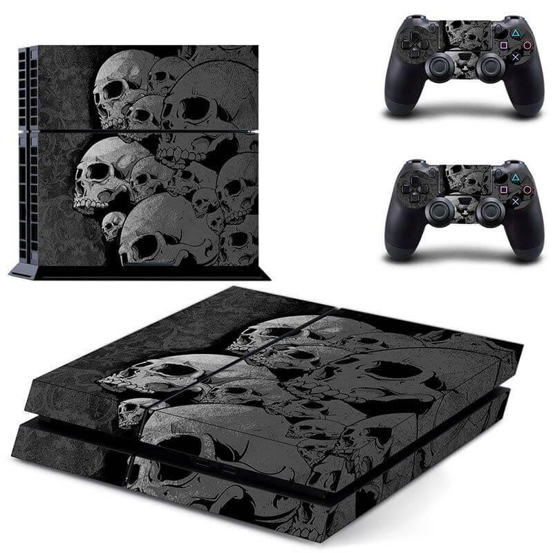 skulls black ps4 sticker