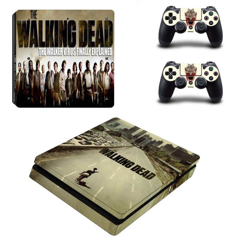 the walking dead ps4 slim sticker