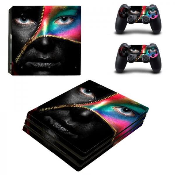 Black Color Beauty PS4 Pro Skin