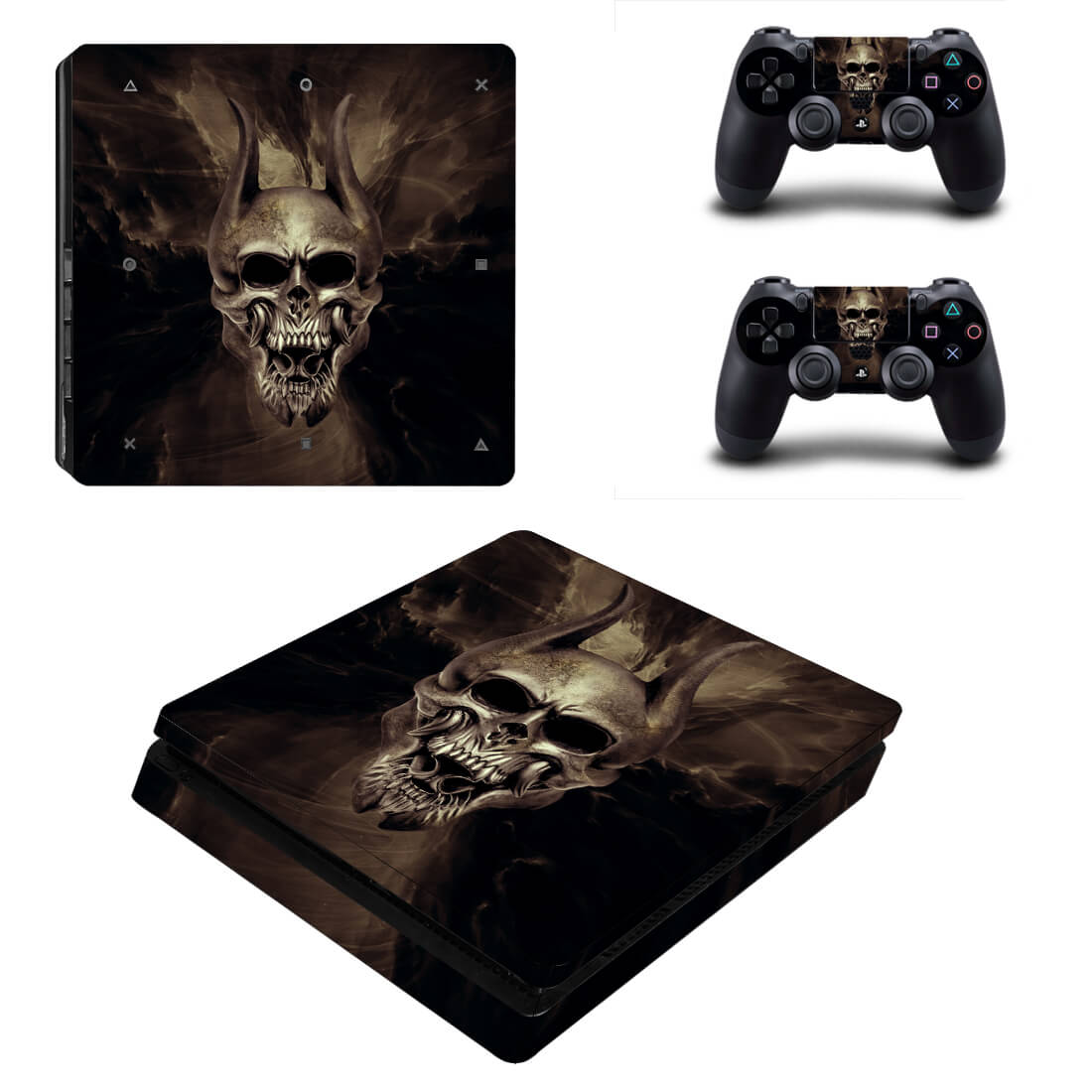 Darkness Skull PS4 Slim skin 1