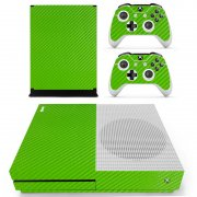 Green Carbon Xbox ONE S skin
