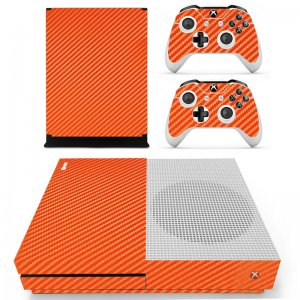 Orange Carbon Xbox ONE S skin