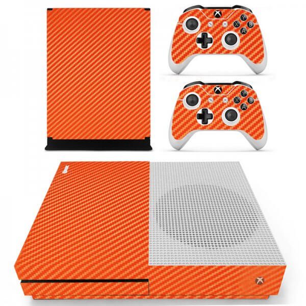 Orange Carbon Xbox ONE S skin