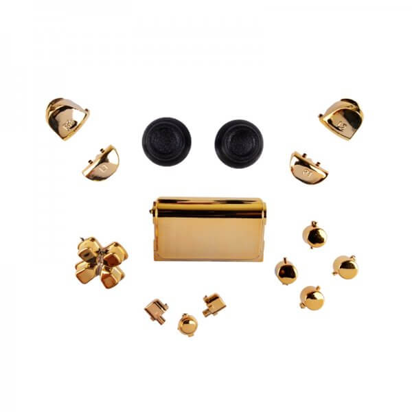 PS4 controller chrome button replacement set goud