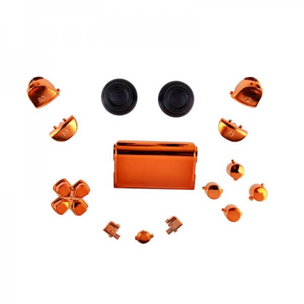 PS4 controller chrome button replacement set oranje
