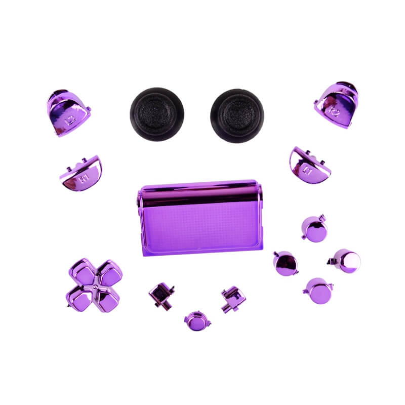 PS4 controller chrome button replacement set paars