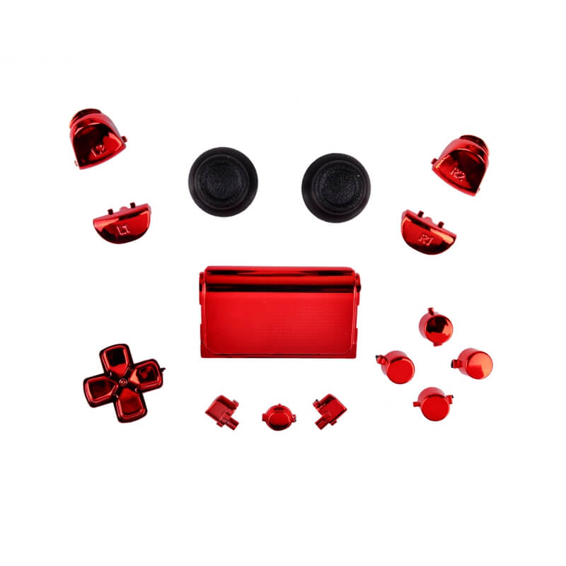 PS4 controller chrome button replacement set rood