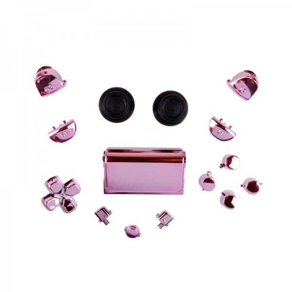 PS4 controller chrome button replacement set roze
