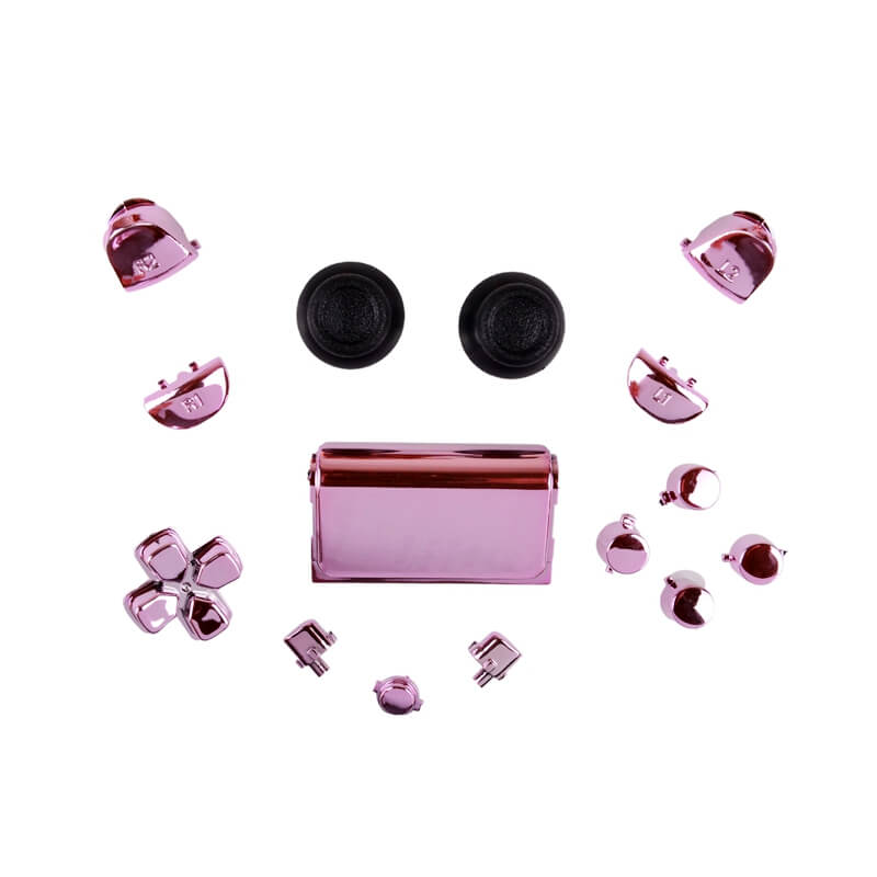 PS4 controller chrome button replacement set roze
