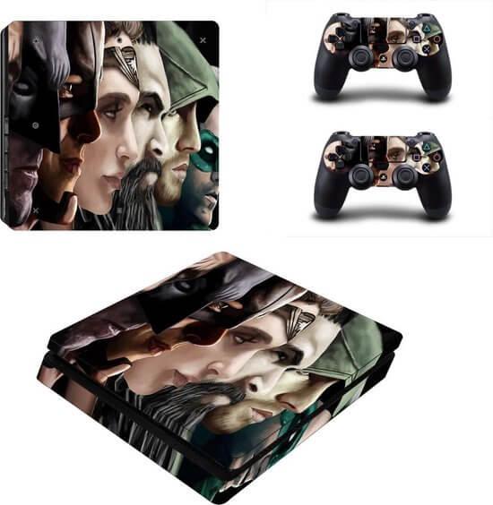 Superheroes PS4 slim skin
