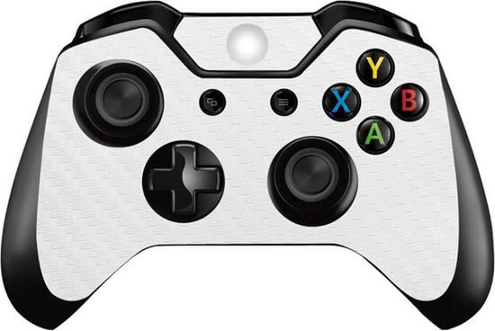 Carbon white Xbox One controller skin