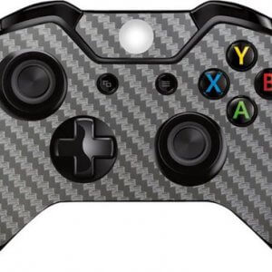Carbon zilver Xbox One controller skin
