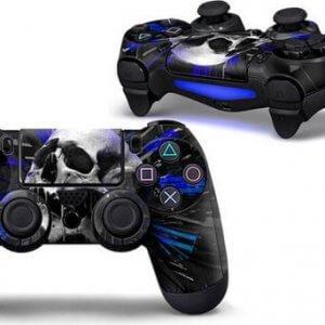 Dark Blue Skull PS4 controller skin