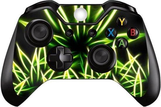 Glowing weed xbox controller skin